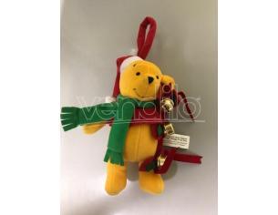 Peluche Winnie con campanelli Natale 20 cm Disney Winnie The Pooh