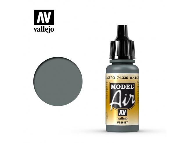 VALLEJO MODEL AIR A14 STEEL GREY 71336 COLORI