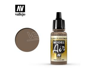 VALLEJO MODEL AIR CAMOUFLAGE PALE BROWN 71035 COLORI