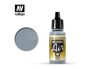 VALLEJO MODEL AIR DARK GHOST GREY 71120 COLORI