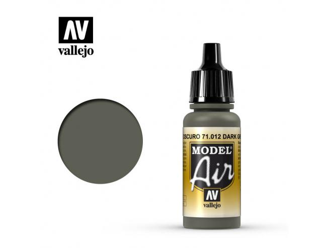 VALLEJO MODEL AIR DARK GREEN 71012 COLORI
