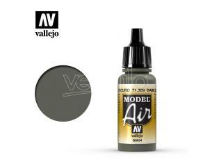 VALLEJO MODEL AIR DARK SLATE GREY 71309 COLORI