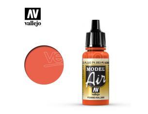 VALLEJO MODEL AIR FLUORESCENT RED 71082 COLORI