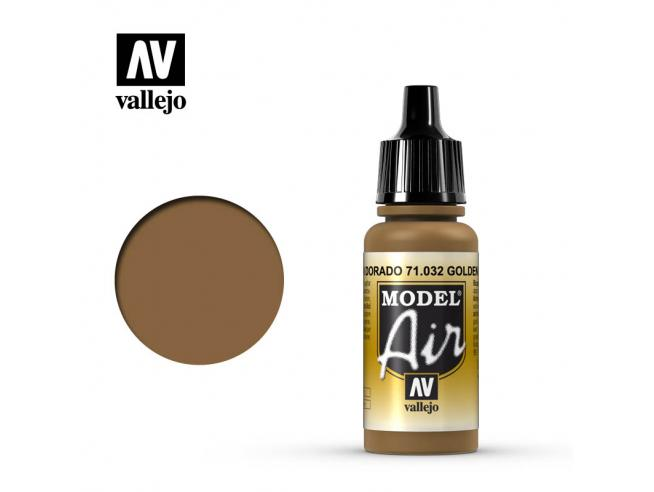 VALLEJO MODEL AIR GOLDEN BROWN 71032 COLORI
