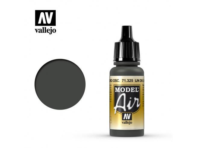 VALLEJO MODEL AIR IJN DARK BLACK GREEN 71325 COLORI