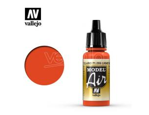 VALLEJO MODEL AIR LIGHT RED 71086 COLORI