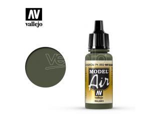 VALLEJO MODEL AIR MEDIUM OLIVE 71092 COLORI