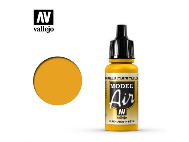 VALLEJO MODEL AIR YELLOW RLM04 71078 COLORI