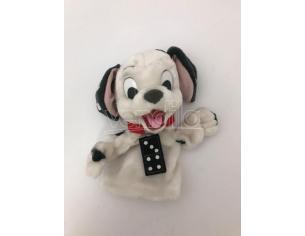 LA CARICA DEI 101 - Peluche marionetta cane dalmata con collare rosso 25 cm