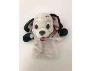 LA CARICA DEI 101 - Peluche marionetta cane dalmata collare azzurro 25 cm