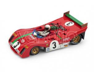 Brumm BM0261B-CHS FERRARI 312 PB N.3 WINNER TARGA FLORIO 1972 W/S.MUNARI 1:43 Modellino