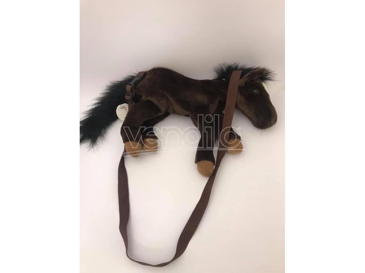 Zainetto Sacca peluche cavallo marrone