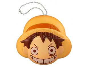 MEGAHOUSE ONE PIECE FLUFFY SQUEEZE B. LUFFY FACE PORTACHIAVI