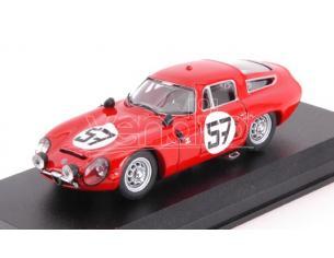 Best Model BT9132-2 ALFA ROMEO TZ1 N.57 13th (1st GT1.6) LM 1964 BUSSINELLO-DESERTI 1:43 Modellino
