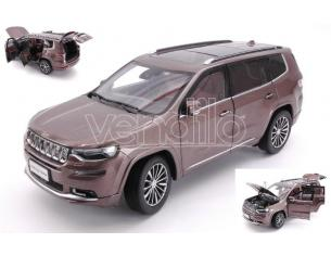 Paudi Model PD2521BR JEEP COMMANDER 4x4 2018 BROWN 1:18 Modellino