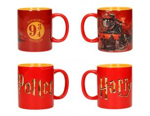 SD TOYS HP LOGO HOGWARTS EXPRESS MUG SET (2) TAZZA
