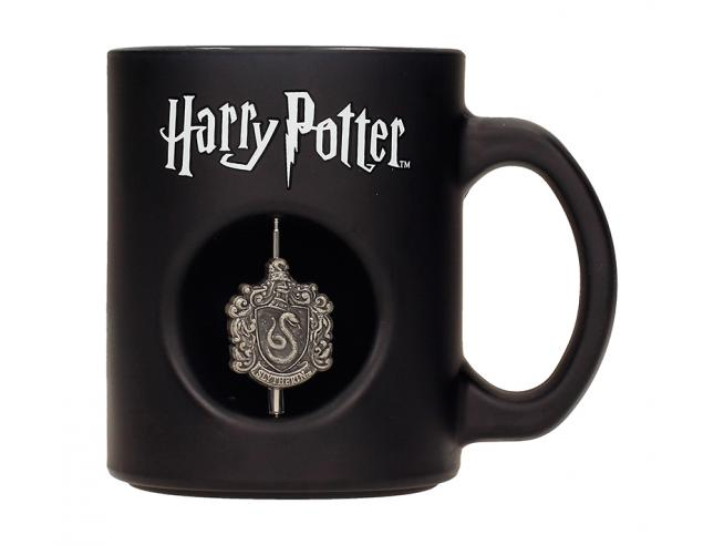 SD TOYS HP SLYTHERIN 3D SPIN EMBLEM BLACK MUG TAZZA