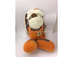 TOBIA'S GIOCHI - Peluche Cane con salopette arancione 62 cm
