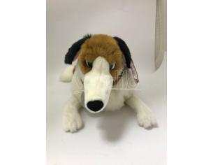 Disney La Carica dei 101 - Peluche cane bianco nero e marrone steso 70 cm