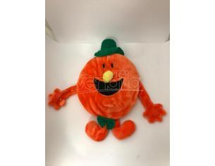 Peluche Faccina arancio gigante con apertura nella schiena 56 cm