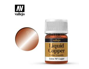 VALLEJO MODEL COLOR LIQUID COPPER ALCOHOL 70797 COLORI