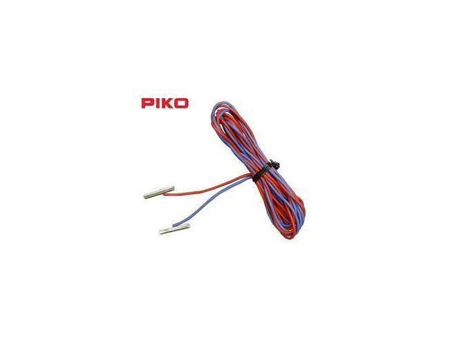 Piko 55292 2 Pz Cavetto Di Alimentazione Con Giunzioni In Metallolo Per Binario
