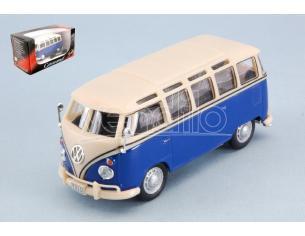 Cararama Motorama CA60330B VW T1 SAMBA BLUE/CREAM 1:43 Modellino