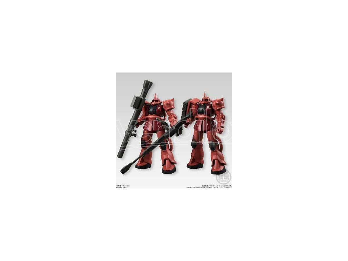 Mobile Suit Gundam Universal unit Char's Zaku II 1 pz Candy Toys & gum Figura