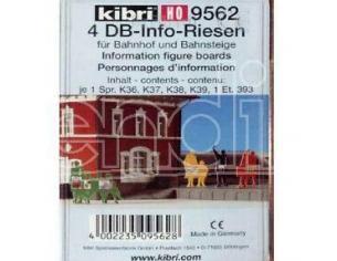 Kibri 9562 - Personaggi Informazioni in plastica 4 DB H0 Modellino