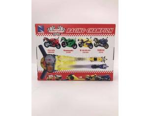 New Ray Racing Champion Playset moto con Honda e Kawasaki e molla per spinta 1:18