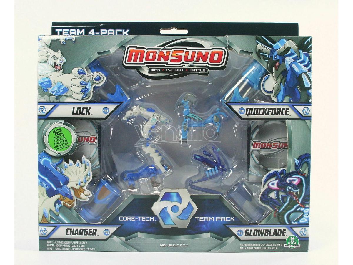 Giochi Preziosi - Monsuno 4 personaggi Core-Tech VS Team Pack (Giocattolo)