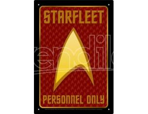 AQUARIUS ENT STAR TREK PERSONNEL TIN SIGN INSEGNA