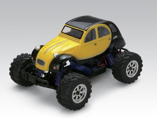 Thunder Tiger 6551-FS Citroen 2 cv 2WD Mini Monster Truck 1:18 4wd Radiocomando