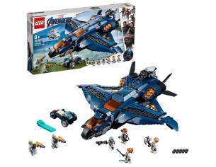 LEGO MARVEL SUPER HEROES 76126 AVENGERS ULTIMATE QUINJET DEGLI AVENGERS DAMAGED