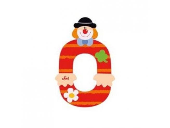 Trudi Sevi 82210 - Numero 0 in legno a forma di Clown 9,5 cm Decorazione