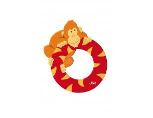 Trudi Sevi 81615 - Lettera O Orangutan in legno Rosso 7,5 cm Decorazione