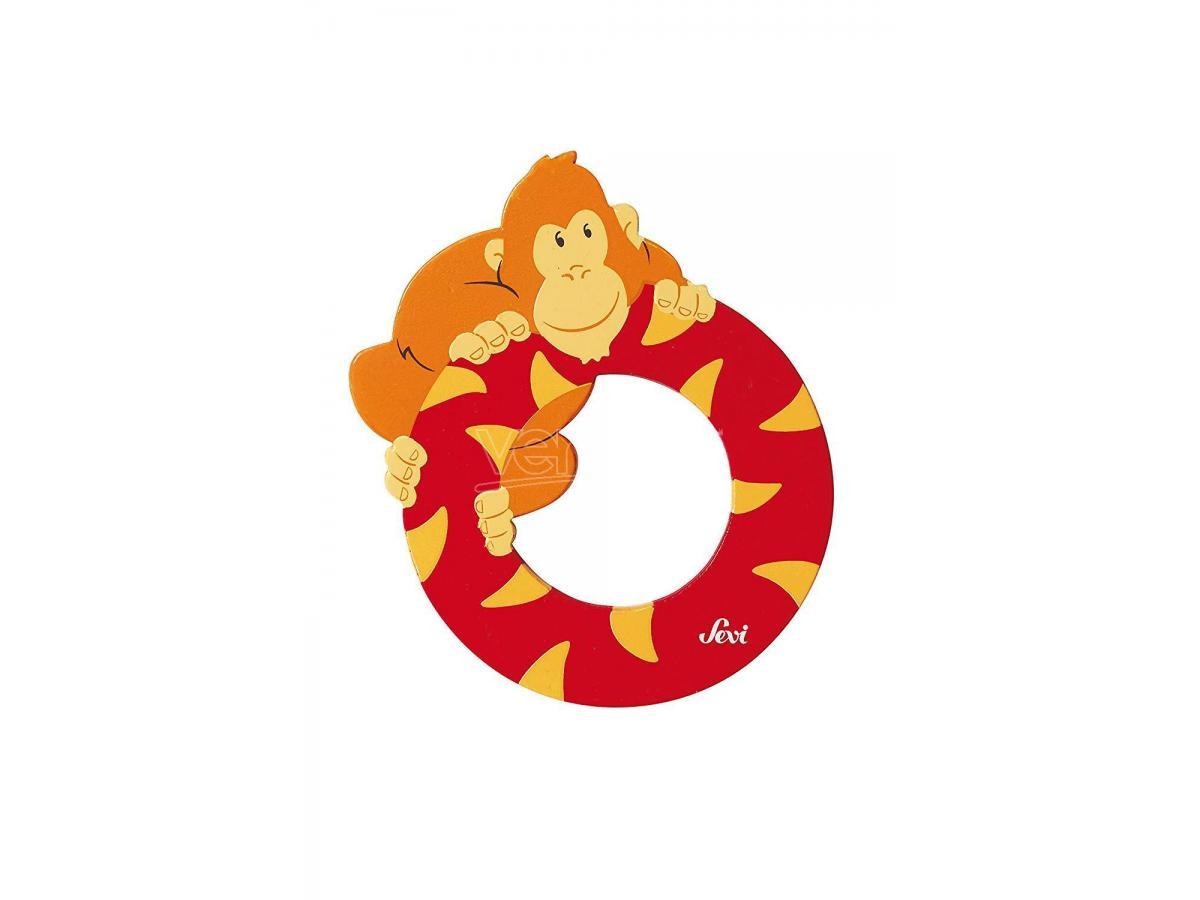 Trudi Sevi 81615 - Letteraa O Orangutan In Legno Rosso 7,5 Cm Decorazione