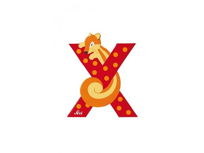 Trudi Sevi 81624 - Lettera X Xero in legno Rosso 9,5 cm Decorazione