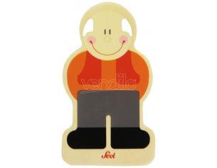 Trudi Sevi 82580 - Tesserina Nonno in legno 8,5 cm Decorazione (Giocattolo)