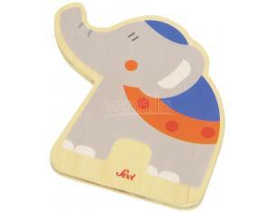 Trudi Sevi 82586 - Tesserina Elefante in legno 8,5 cm Decorazione (Giocattolo)