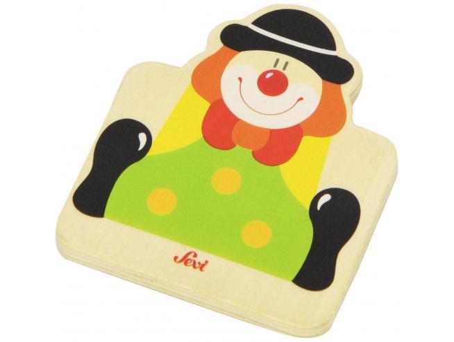 Trudi Sevi 82581 - Tesserina Clown in legno 8,5 cm Decorazione (Giocattolo)