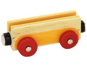 Trudi Sevi 82503 - Vagoncino in legno 8,5 cm Decorazione (Giocattolo)