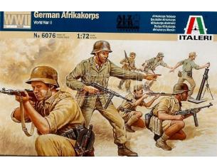 Italeri IT6076 WW II GERMAN AFRIKA KORPS KIT 1:72 Modellino