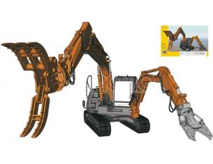 Hasegawa HGSSW04 HITACHI DUOPLE ARM WORKING KIT 1:35 Modellino