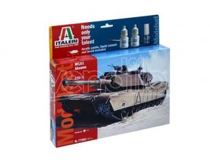 Italeri IT77001 M 1 ABRAMS (MODEL SET) KIT 1:72 Modellino