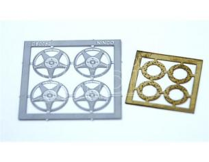 Ninco 80725 Set 4 cerchioni + 4 dischi freno in fotoincisione Prorace Ricambi