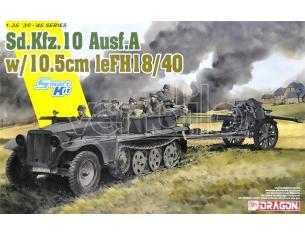 Dragon D6939 SD.KFZ.10 AUSF.A W/10,5 cm le FH18/40 KIT 1:35 Modellino