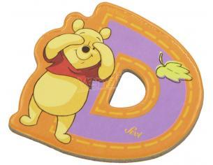 Trudi Sevi 82762 - Winnie the Pooh Lettera D adesiva 7 cm