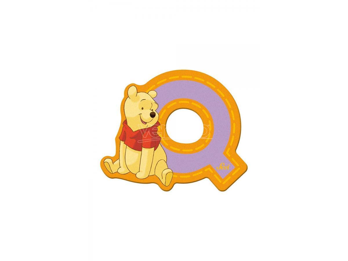 Trudi Sevi 82775 - Winnie the Pooh Lettera Q adesiva 7 cm