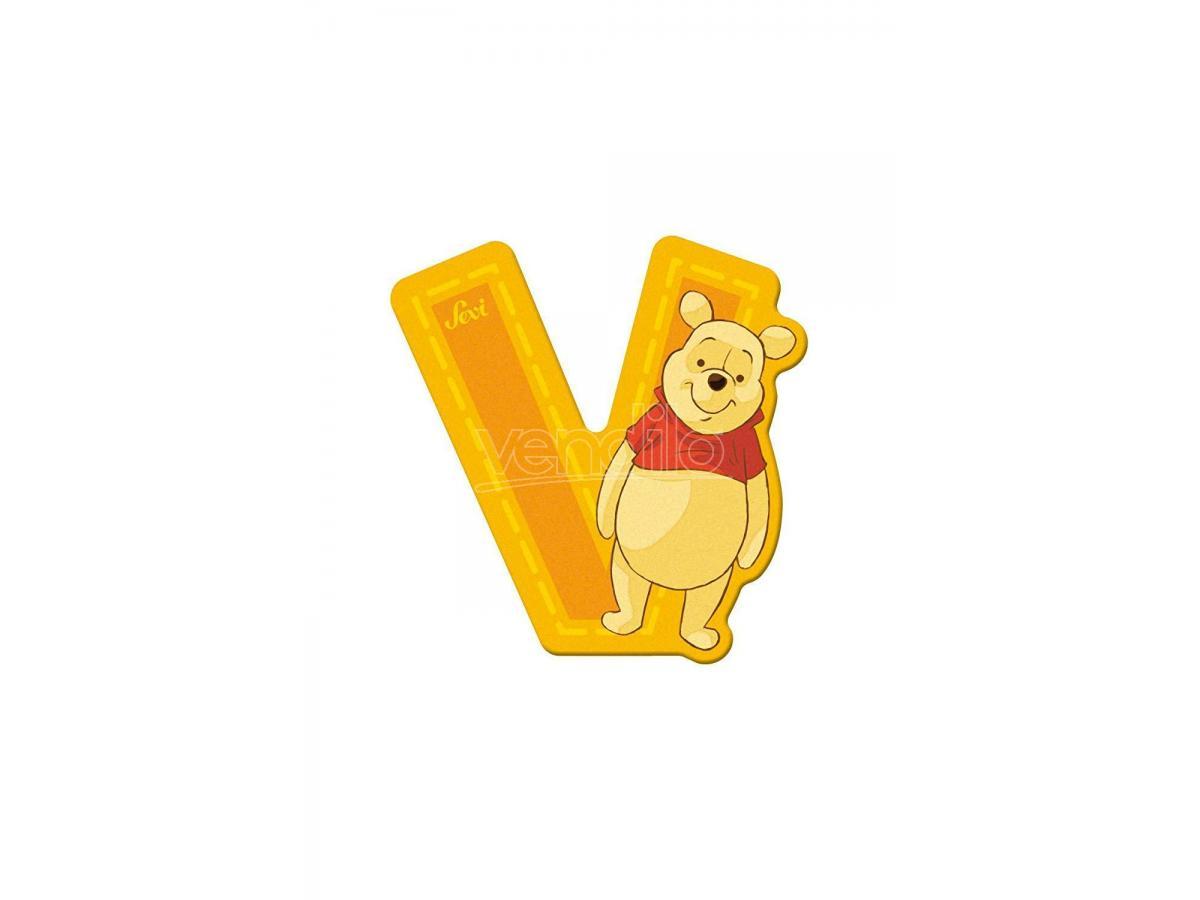 Trudi Sevi 82780 - Winnie The Pooh Letteraa V Adesiva 7 Cm